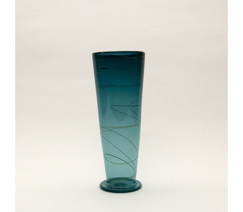 Small Ligne Vase - Steel Blue