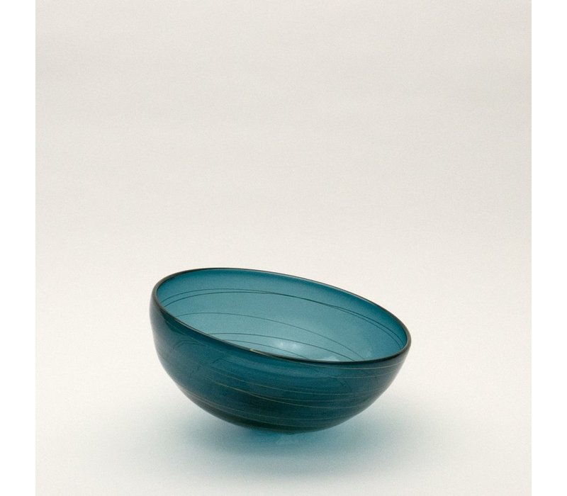 Small Ligne Bowl - Steel Blue