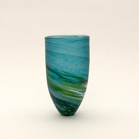Aqua Tall Seaspray Bowl