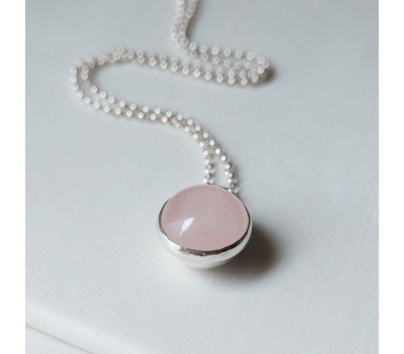 Dome Set Pendant Necklace