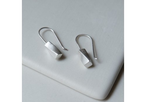 Rectangular Twist Column Earrings