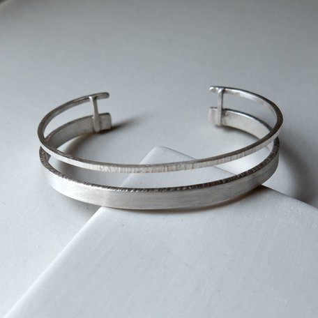 Hammered Double Cuff