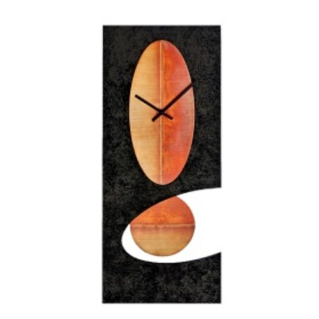 Large Black Oval Pendulum Clock