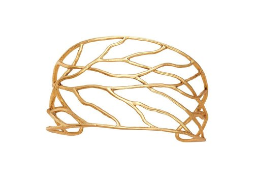 Intricate Branches Cuff-Gold Plated