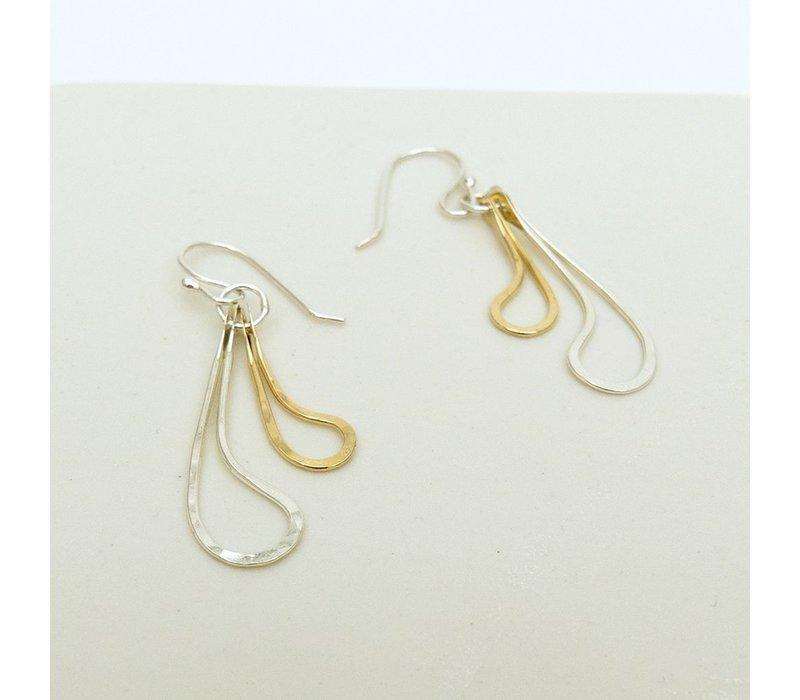 Curved Teardrop Earrings