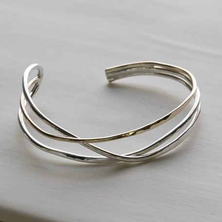 Gold Fill and Sterling Silver Cuff Bracelet