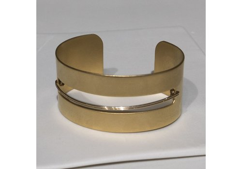 Gold Cuff with Wire