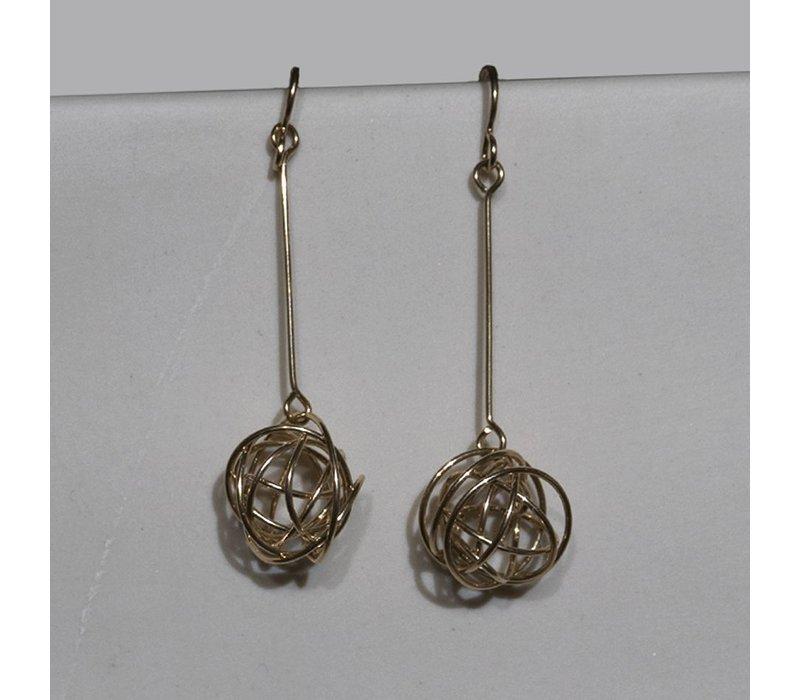Gold Tumbleweed Earrings