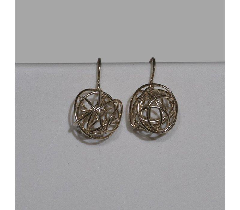 Gold Short Tumbleweed Earrings