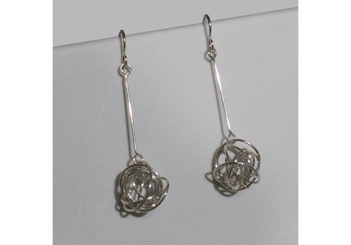 Silver Tumbleweed Earrings