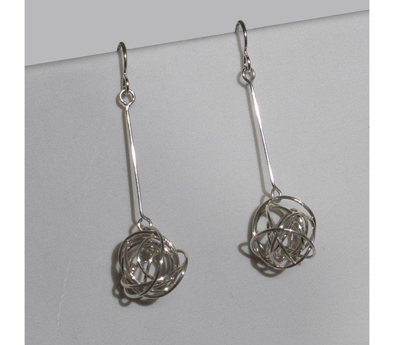 Silver Tumbleweed Earrings