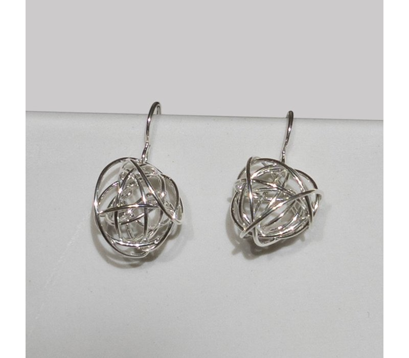 Silver Short Tumbleweed Earrings