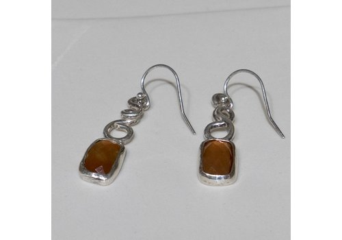 Faceted Carnelian Earrings