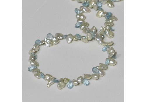 Green Pearl with Apatite Brios