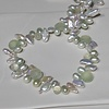 Keshi Pearl with Green Chalcedony Brios