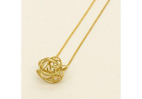 Gold Tumbleweed Necklace