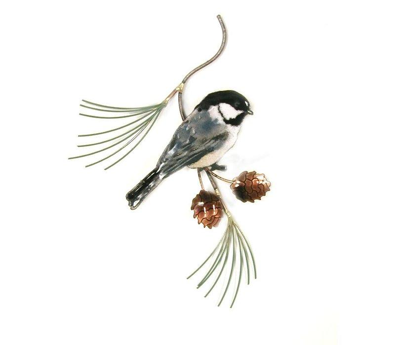 Chickadee on Pine