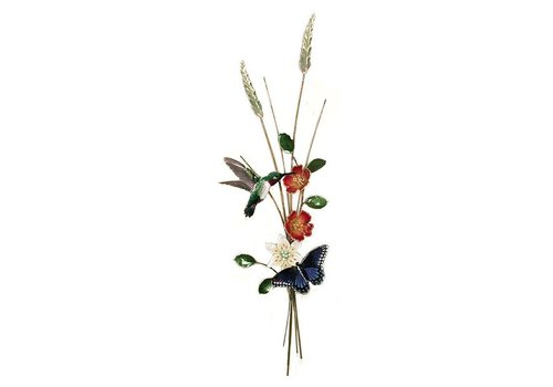 Hummingbird, Butterfly & Flowers