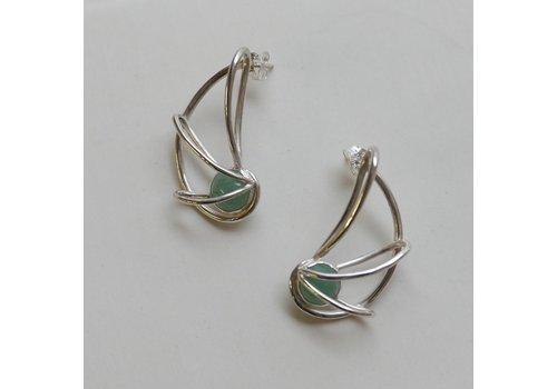 Nautilus Earrings with Adventurine