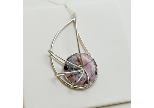 Nautilus Pendant with Rhodonite