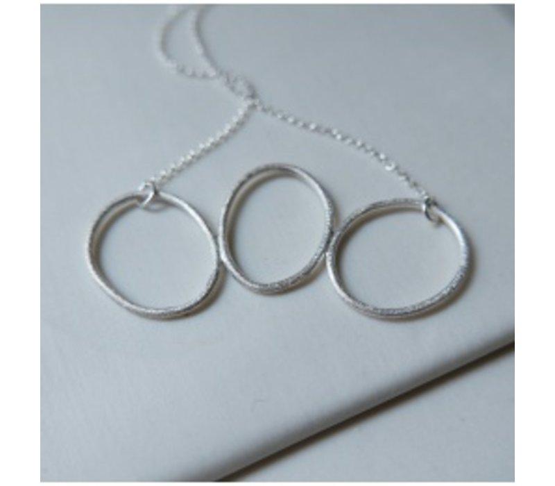 Organic  3 Hoop Necklace