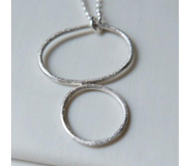 Organic Double Hoop Necklace