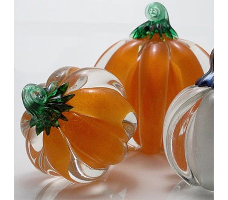 Orange Glass Pumpkin