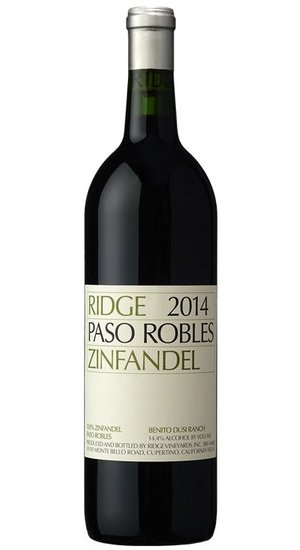 Ridge Paso Robles Zinfandel 15
