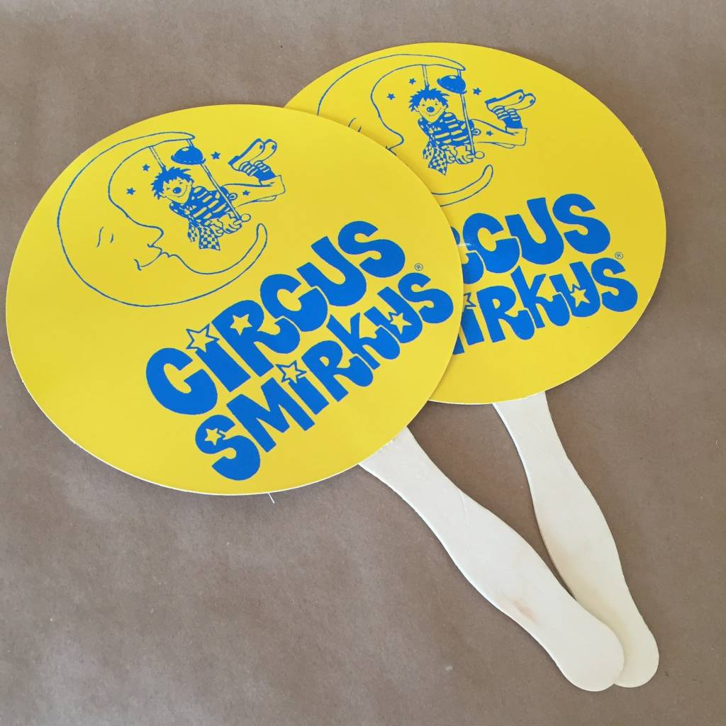 Smirkus Logo Hand Fan