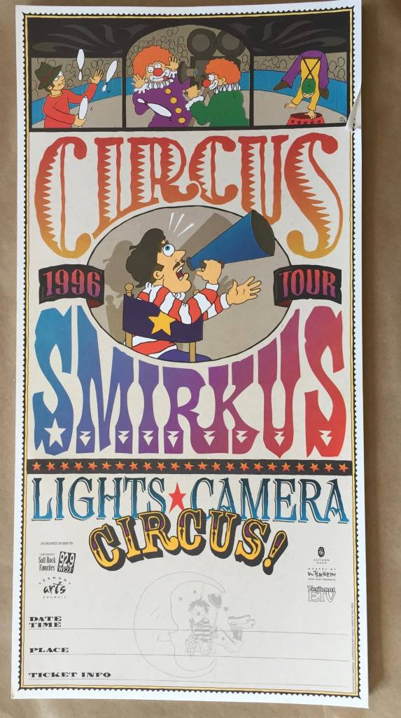 1996 Tour Poster - Lights, Camera Circus!