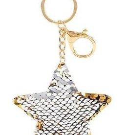 Flip Sequin Star Keychain