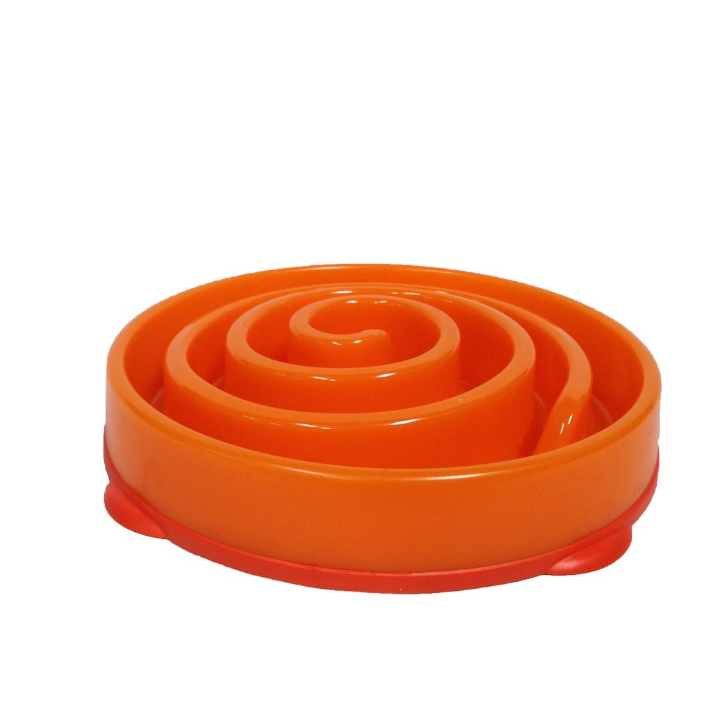 Kyjen Slo-Bowl Slow Feeder Coral/Orange