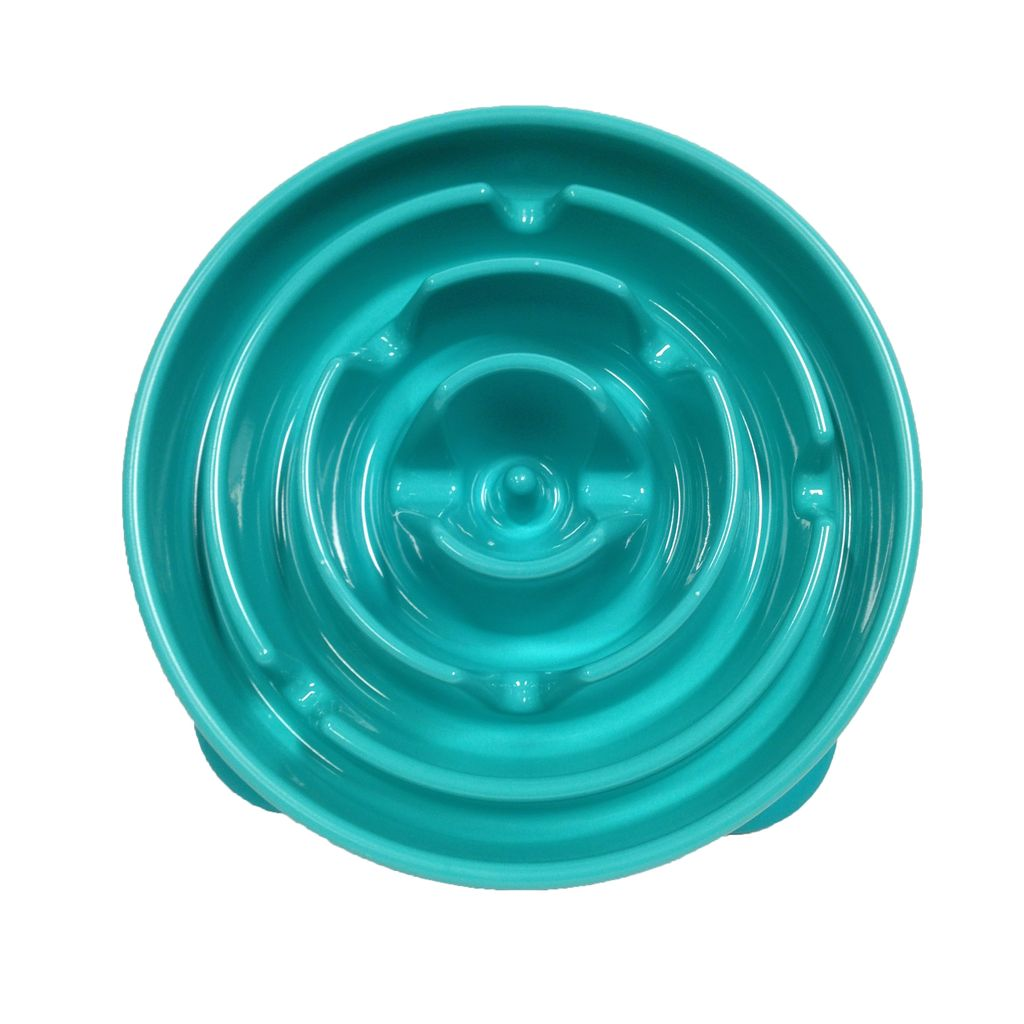 Kyjen Slo-Bowl Feeder/Drop Teal