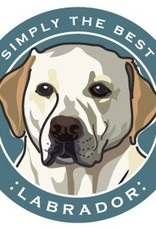 Paper Russels Yellow Lab Car Magnet