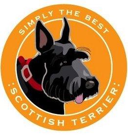 Paper Russels Scottish Terrier Car Magnet
