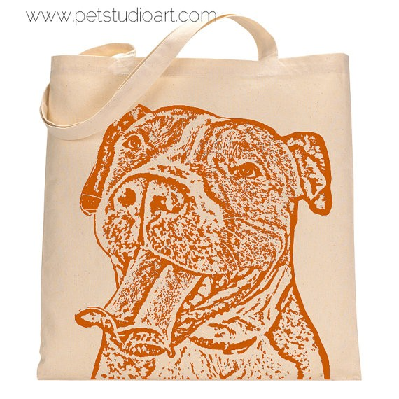 "Pit Bull ""Buttercup"" Tote Bag"