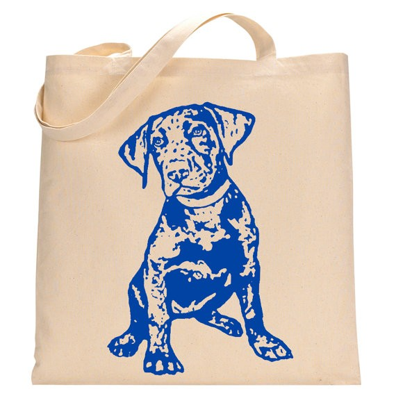 Chocolate Lab Puppy Tote Bag