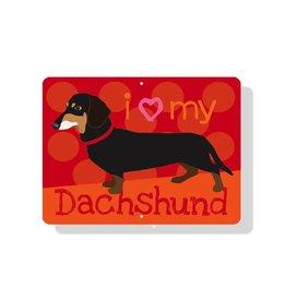 Independent Black Dachshund Sign