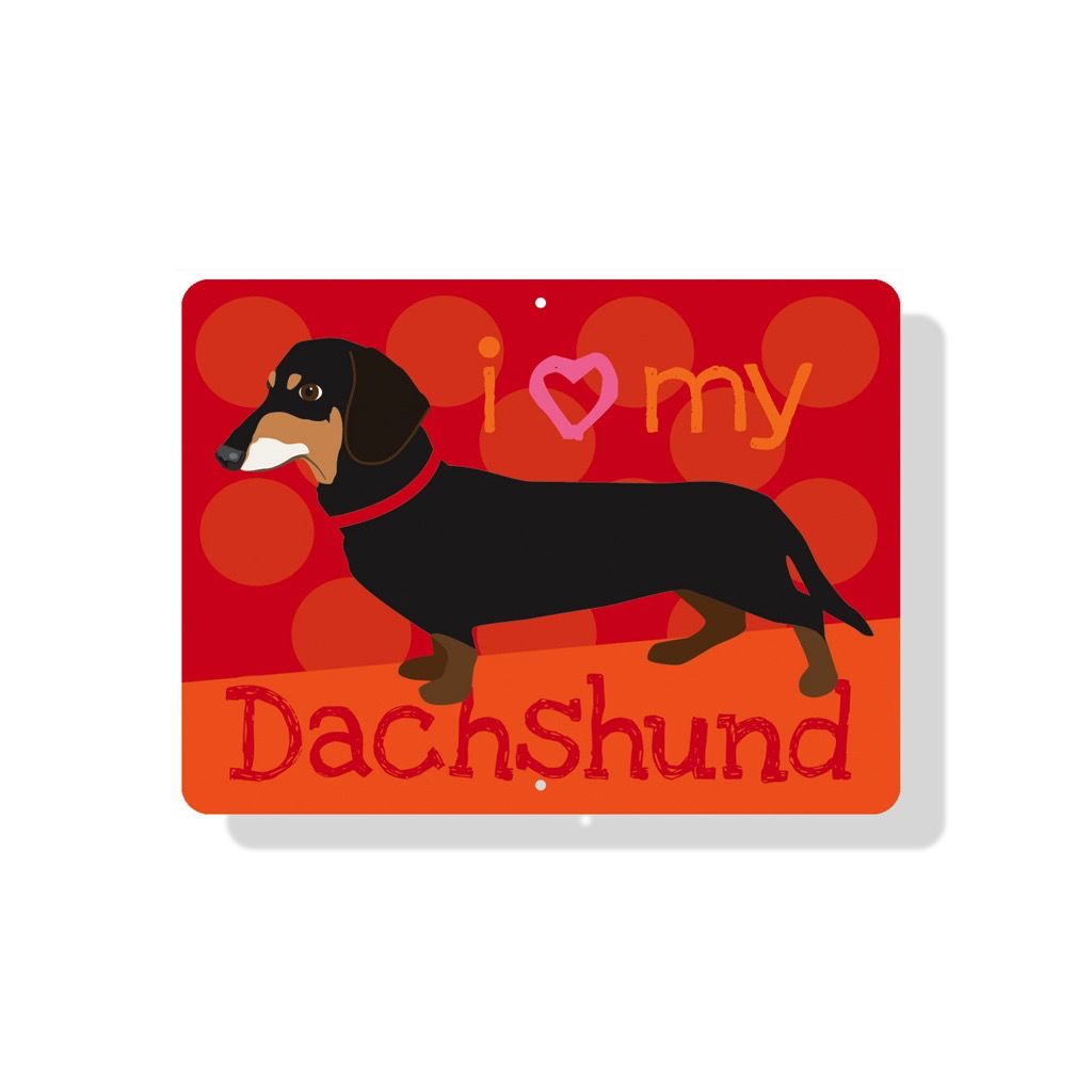 Independent Black Dachshund Sign