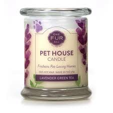One Fur All Lavender Green Tea Candle
