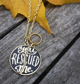 Emily McDowell Studio You Rescued Me Charm Set