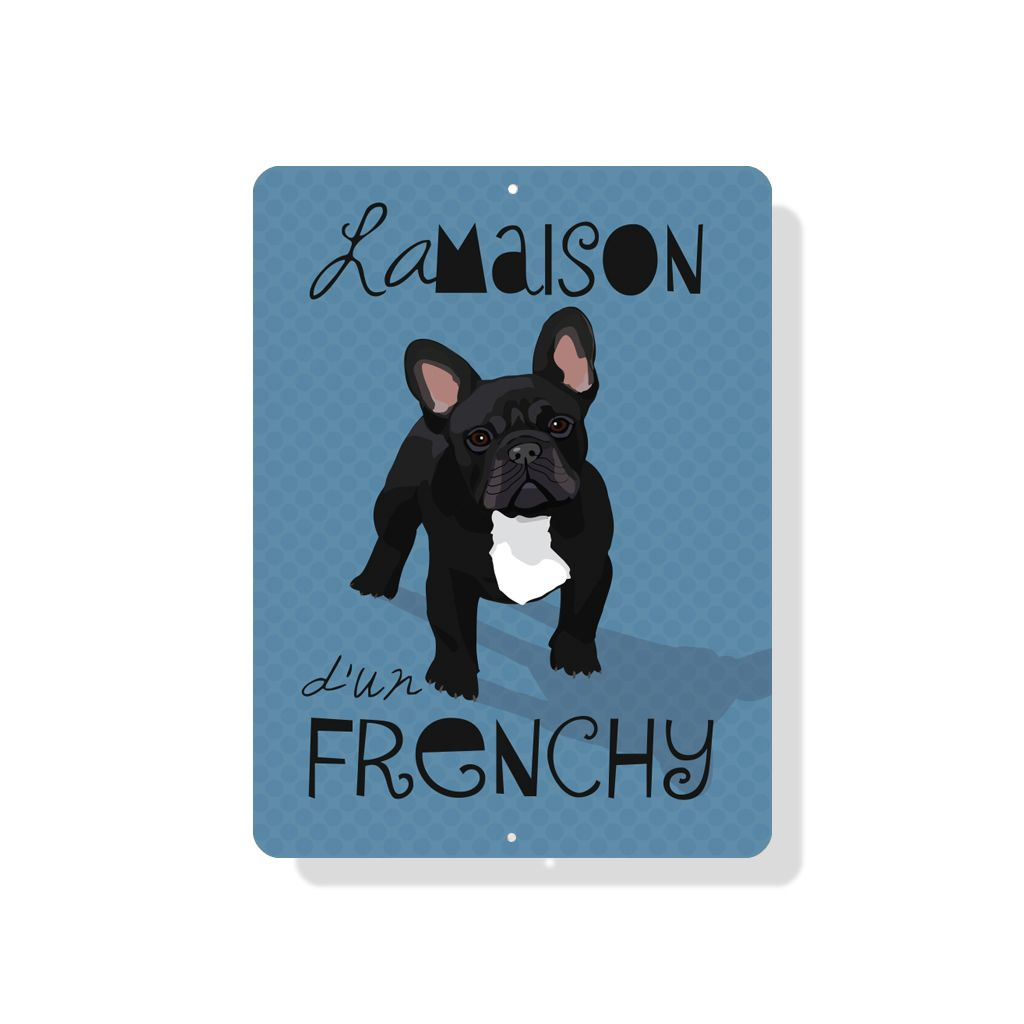 Independent Black French Bulldog Sign