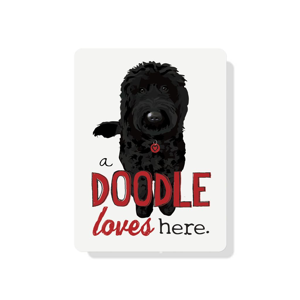 Independent Black Doodle Loves Here