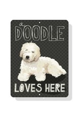 Independent White Golden Doodle Sign