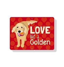 Independent Golden Love Sign