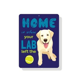 Independent Yellow Lab Sign