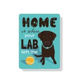 Independent Chocolate Lab Sign