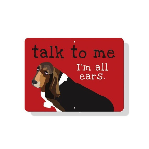 Independent Basset Hound Sign