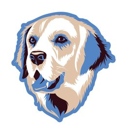 GoldenDoodle, LLC Golden Retriever Car Magnet