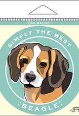 Paper Russels Beagle Car Magnet